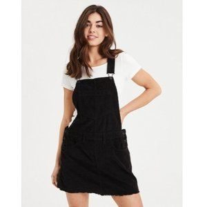 American Eagle Corduroy Black Overall Dress Skirt